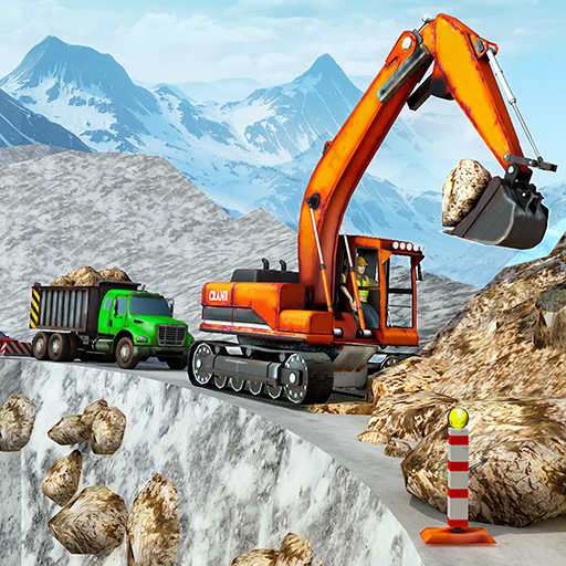 Snow Offroad Construction Excavator