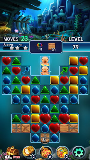 Jewel ocean world: Match-3 puzzle Apkfinish screenshots 23