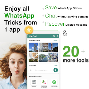 WhatsTools for WA Status Saver, Chat, Tricks MOD (Pro) 1