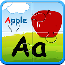Alphabet jigsaw puzzle & flashcards kids game