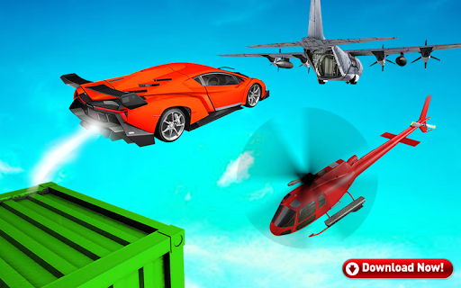Mega Stunt Car Race Game - Free Games 2020 3.5 screenshots 7