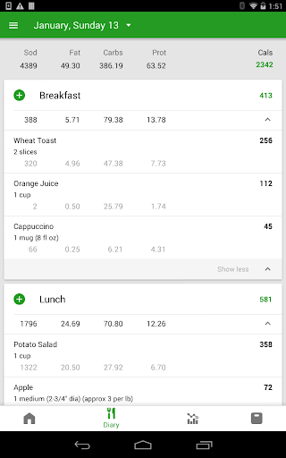 Calorie Counter by FatSecret android2mod screenshots 9