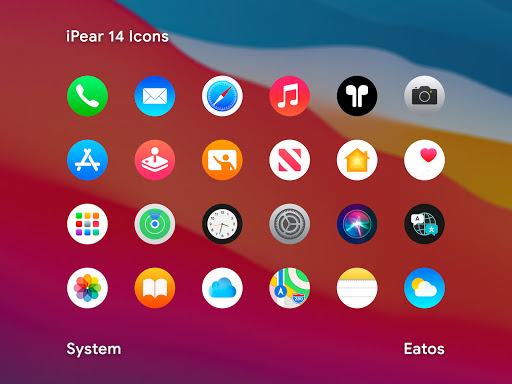 Download APK: iPear 14 – Round Icon Pack v1.2.1 [Patched]