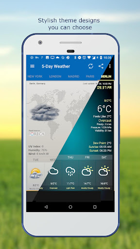 Weather & Clock Widget for Android screenshots 4