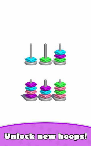 Sort Hoop Stack Color - 3D Color Sort Puzzle apkslow screenshots 14