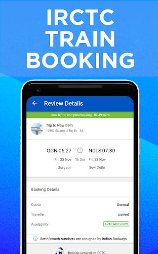 IRCTC Train Booking, PNR Status, Running Status 5.0.8 screenshots 1