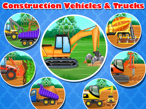 Construction Vehicles & Trucks - Games for Kids  Screenshots 7