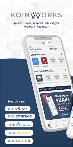 KoinWorks – Pinjaman Usaha   Investasi Emas   P2P