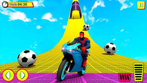 Superhero Tricky bike race (kids games)  Screenshots 2