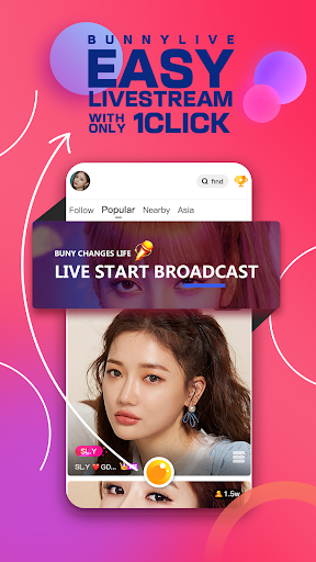 Bunny Live - Live Stream & Video chat screen 0