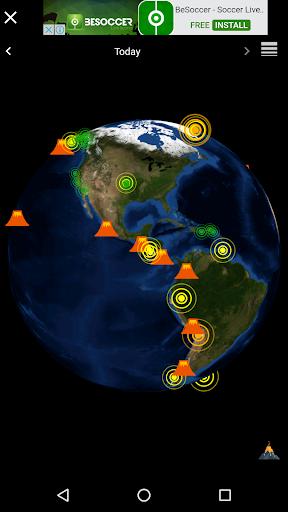 Quake & Volcanoes: 3D Globe of Volcanic Eruptions  Screenshots 1
