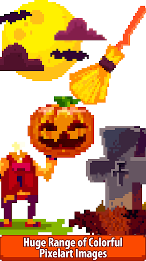 halloween pixel art:paint by number, coloring book screenshot 2