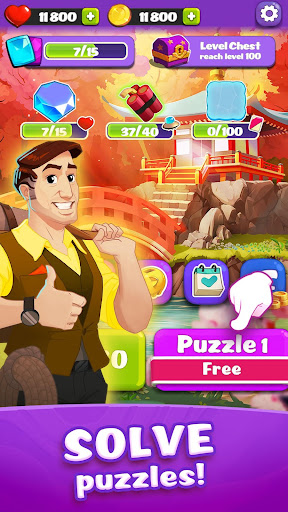 link pets: match 3 puzzle game with animals screenshot 1