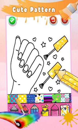 Glitter Nail Drawing Book and Coloring Game 5.0 Screenshots 4