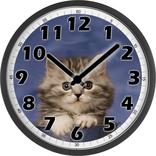 Sweet Cat Clock For PC Windows (7, 8, 10 and 10x) & Mac Computer