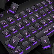 Black Purple Light Keyboard