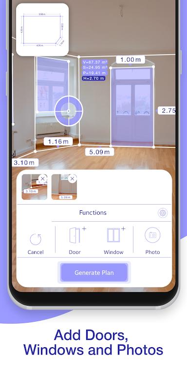 ARPlan 3D: Tape Measure, Ruler, Floor Plan Creator poster 1