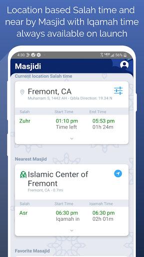 Masjidi-Salah and Iqamah times. 1.1.1 screenshots 1