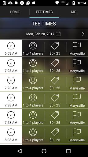 marysville golf tee times screenshot 3