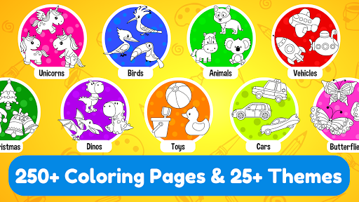 Learning & Coloring Game for Kids & Preschoolers  screenshots 3
