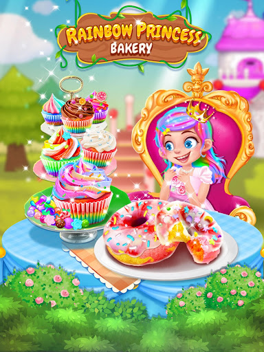 Rainbow Princess Bakery - Make Cupcake & Donut 1.4 screenshots 5