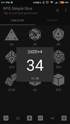 RPG Simple Dice  screenshots 2