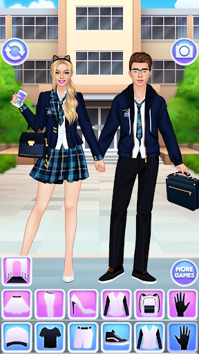 High School Couple: Girl & Boy Makeover 1.6 screenshots 2