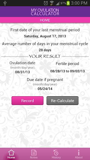 My Ovulation Calculator 3.4.3 screenshots 2