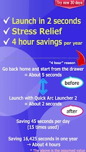 Quick Arc Launcher 2 ( Smart One Swipe Launcher ) 2.35.0 Mod + APK + Data UPDATED 3