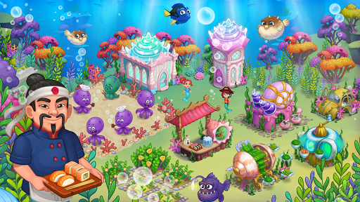 Aquarium Farm -fish town, Mermaid love story shark screenshots 14