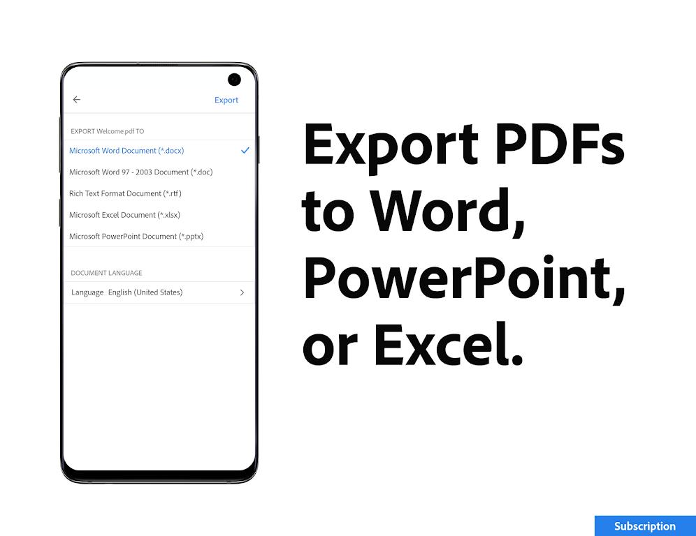 Adobe Acrobat Reader: Edit PDF poster 6