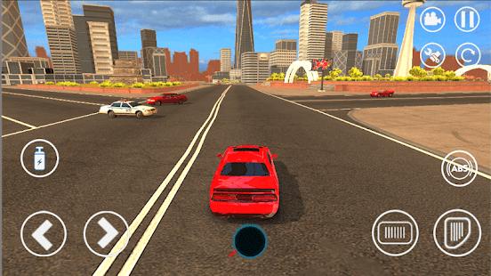 Schermata del gioco di corse in derapata