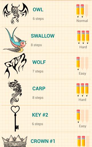 How to Draw Tattoos 5.1 Screenshots 14