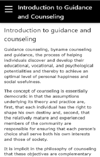 Introduction to Guidance and Counselling  screenshots 8