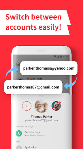 myMail: Email App for Gmail, Hotmail & AOL E-Mails  screenshots 1