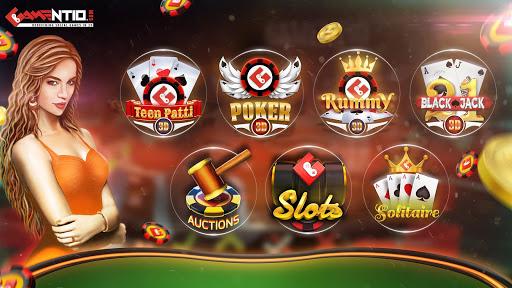 Gamentio 3D: Poker Teenpatti Rummy Slots +More  screenshots 1