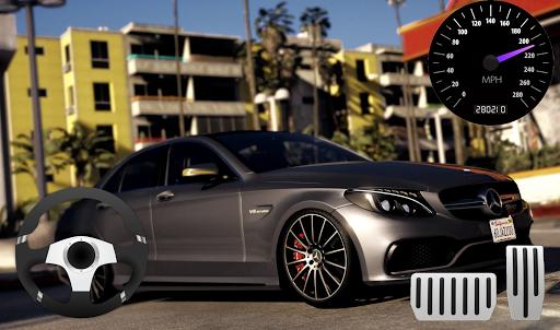Parking Mercedes C63 AMG City Drive apkpoly screenshots 3
