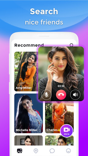 BoloJi - Video Call, Live Chat & Online Video Chat android2mod screenshots 1
