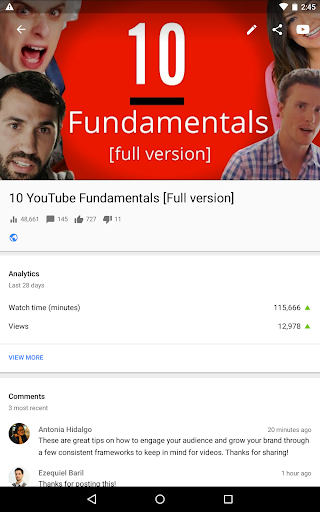 YouTube Studio 20.47.101 Screenshots 12