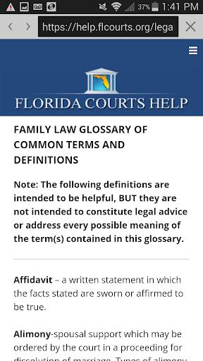 Florida Courts Help  screenshots 5
