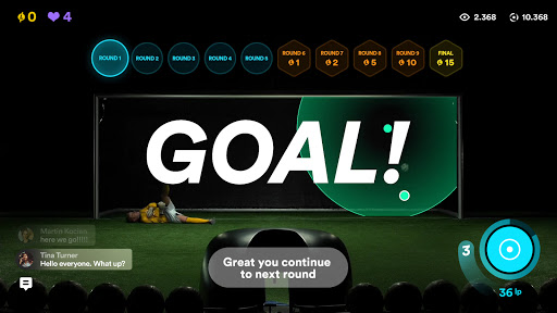 Live Penalty: Score goals against real goalkeepers  screenshots 1