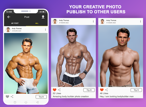 Body Builder Photo Suit (Six pack abs editor) android2mod screenshots 10
