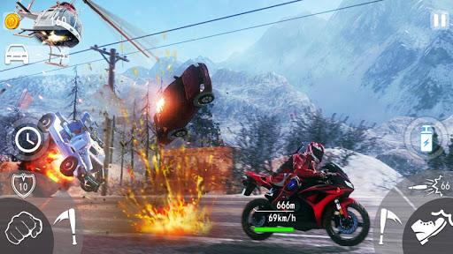 Highway Death Moto- New Bike Attack Race Game 3D  screenshots 5