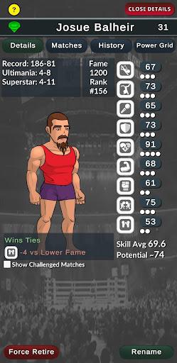 Ultimate Wrestling Manager APK MOD (Astuce) screenshots 2