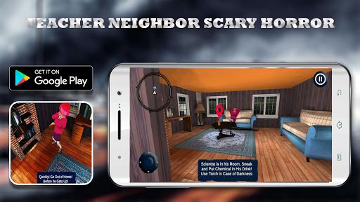 Scary Neighbor Teacher Scientist apkpoly screenshots 2