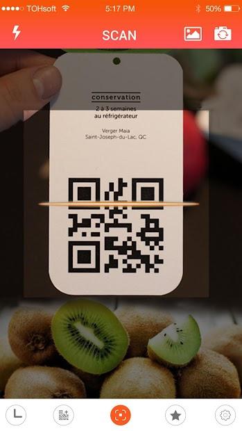 QR code reader Android App Screenshot