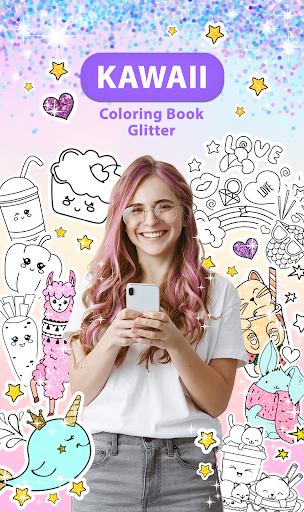Kawaii Coloring Book Glitter modavailable screenshots 1