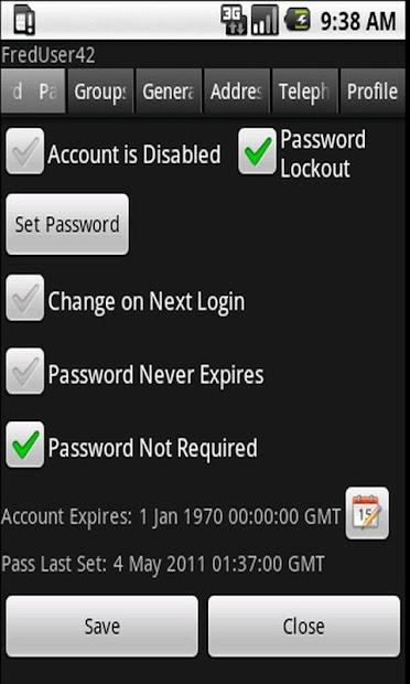 Screenshot 4 de Free ActiveDir Manager para android