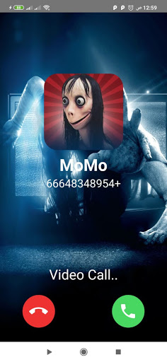 Momo scary fake call video and voice and chat  Pc-softi 5