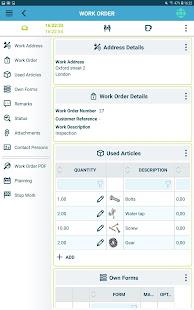 The Smart Work Order app